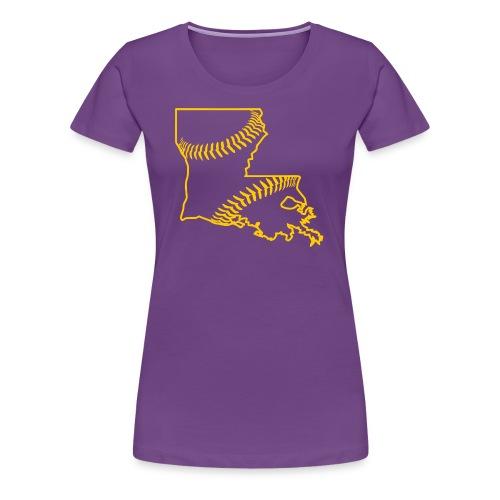 Louisiana Baseball, Gold - Women's Premium T-Shirt