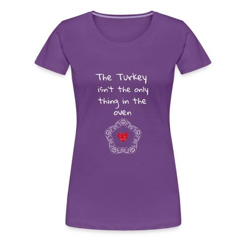 Baby Pregnancy Announcement and Thanksgiving Shir - Women's Premium T-Shirt