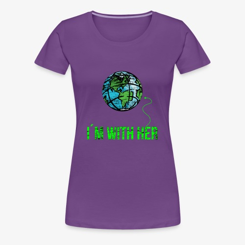 IM WITH HER - CONT - Women's Premium T-Shirt