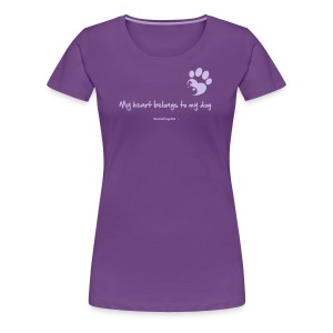 RescueDogs101 My heart belongs to my dog - Women's Premium T-Shirt