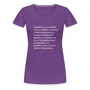 First Amendment - Women's Premium T-Shirt