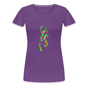 multi color deer - Women's Premium T-Shirt