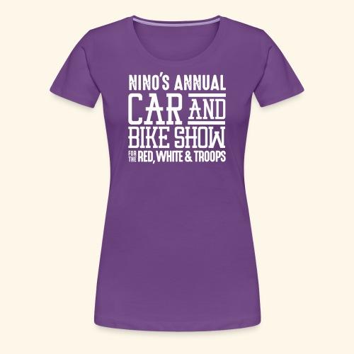 Nino's - Wordmark White - Women's Premium T-Shirt