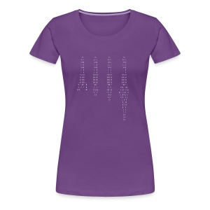 ASCII rocket - Women's Premium T-Shirt