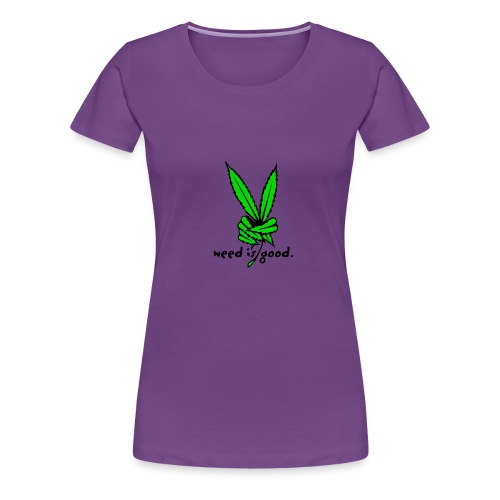 Marijuana Leaf Peace - Women's Premium T-Shirt