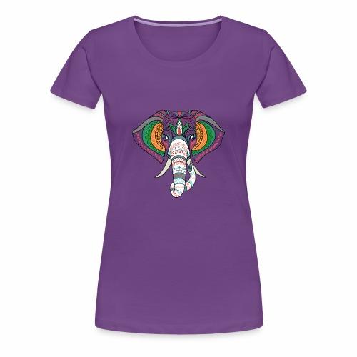 H&F Market high beautiful coloured elephant design - Women's Premium T-Shirt
