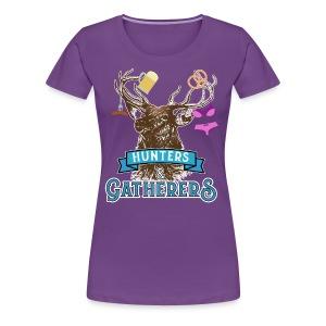 Funny Oktoberfest T Shirt Hunters Gatherers - Women's Premium T-Shirt