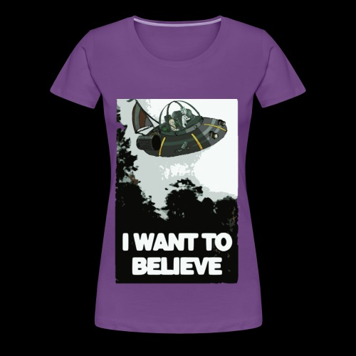 I Want To Believe - Women's Premium T-Shirt