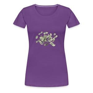 Money flying - Women's Premium T-Shirt