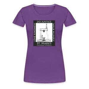 Black St. Mark's Logo - Women's Premium T-Shirt