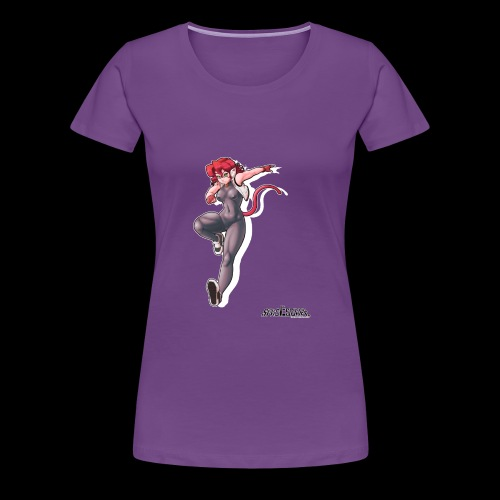 SE Mitsuko Poster no BG - Women's Premium T-Shirt