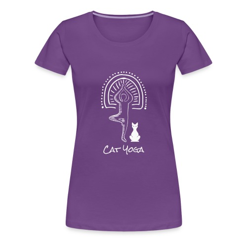 Cat Yoga - Women's Premium T-Shirt