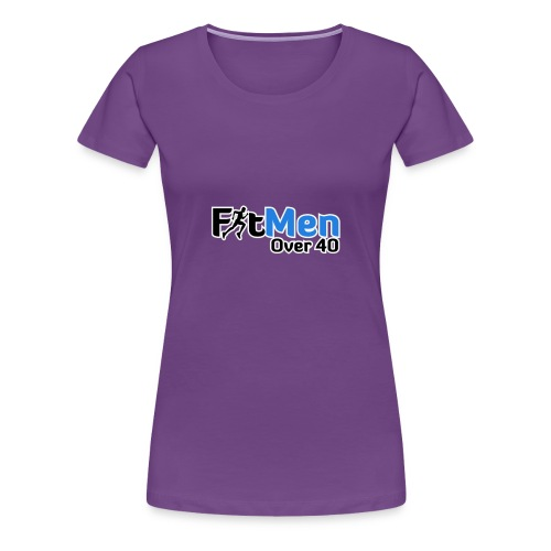 Fit Men Over 40 V-Neck Short Sleeve Shirt - Women's Premium T-Shirt