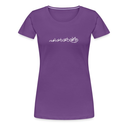 Lifecycle Evolution of the Bike Cycling - Women's Premium T-Shirt