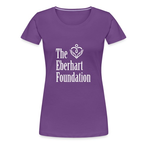 The Eberhart Foundation square logo white - Women's Premium T-Shirt