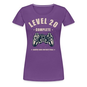 Level 20 Complete Video Gaming T Shirt - Women's Premium T-Shirt