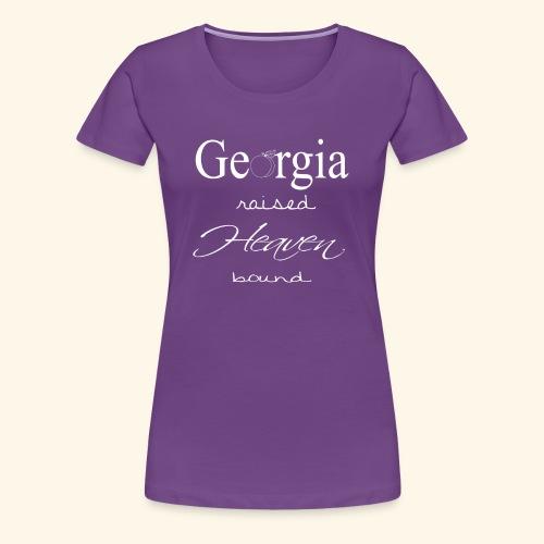 GA raised white - Women's Premium T-Shirt