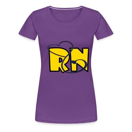 yellow RN W steth - Women's Premium T-Shirt