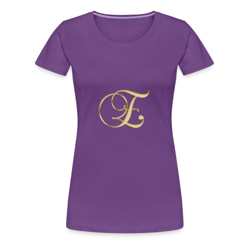 e golden logo - Women's Premium T-Shirt