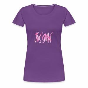 JUS SAYIN - PINK CAMO - Women's Premium T-Shirt