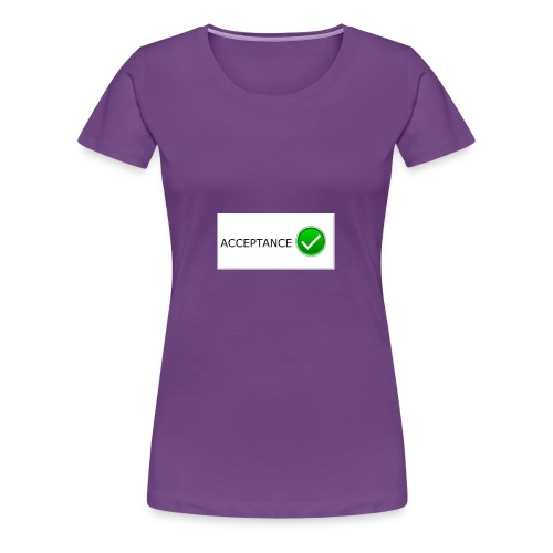 accpetnace_logo - Women's Premium T-Shirt