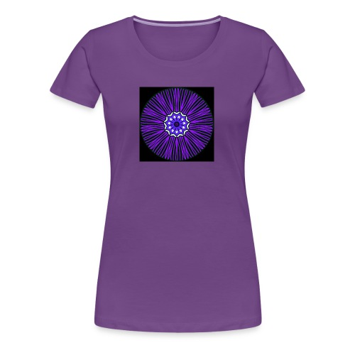 Feathery purple mandala - Women's Premium T-Shirt