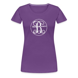 Bon Appetit White Medalion - Women's Premium T-Shirt