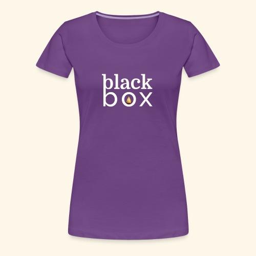 Black Box Logo Gold Drop White Text - Women's Premium T-Shirt