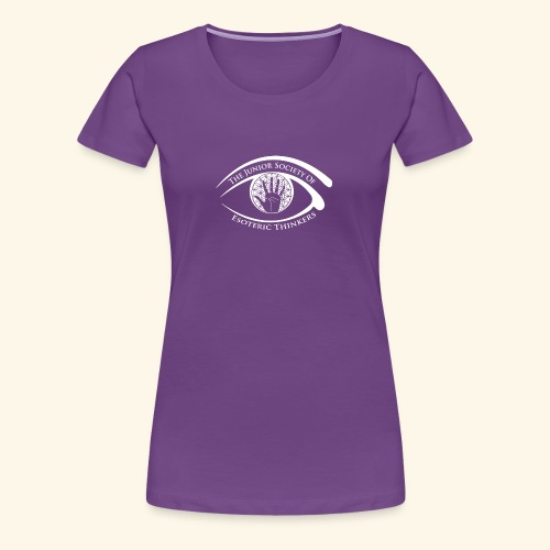 Society of Esoteric Thinkers white logo - Women's Premium T-Shirt