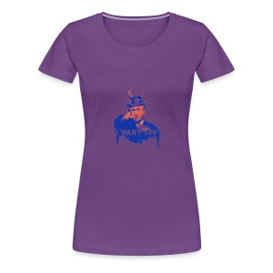 Donald Trump as Uncle Sam - Women's Premium T-Shirt