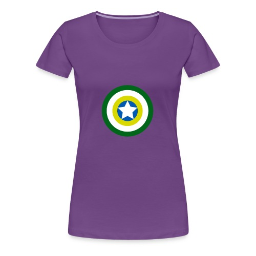 Capitão America Brasil - Women's Premium T-Shirt