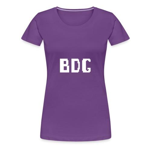 BDG 8-Bit Design White - Women's Premium T-Shirt