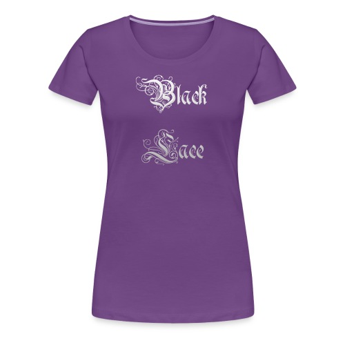 Black Lace Media logo - Women's Premium T-Shirt