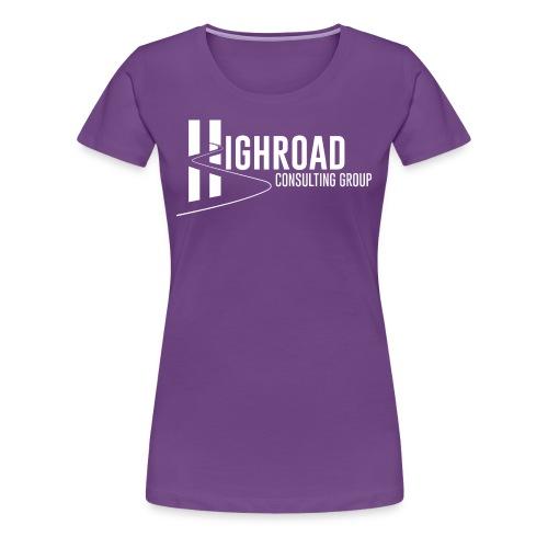 Highroad logo Overlay White - Women's Premium T-Shirt