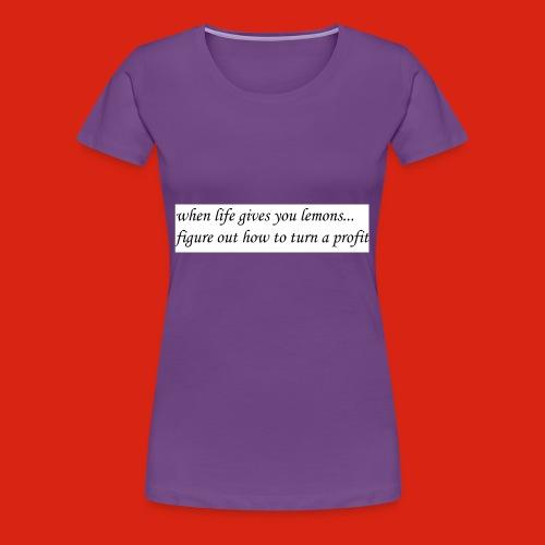 when life gives business man lemons - Women's Premium T-Shirt