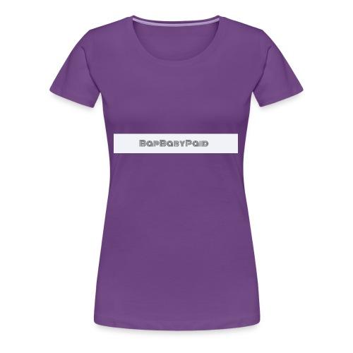 BLACK THREE LINE BAPBABYPAID - Women's Premium T-Shirt