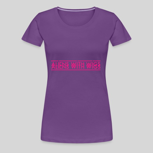 AliensWithWigs-Logo-Rose - Women's Premium T-Shirt