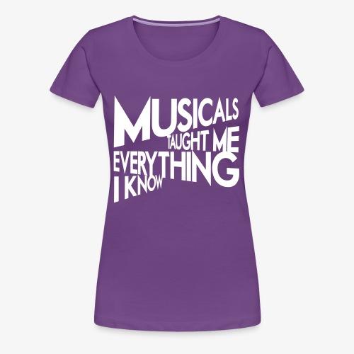 MTMEIK White Logo - Women's Premium T-Shirt