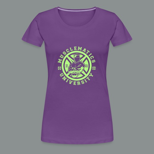 ALUMNI HIGH LIME - Women's Premium T-Shirt
