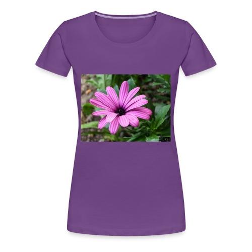 Beautiful Purple Flower - Women's Premium T-Shirt