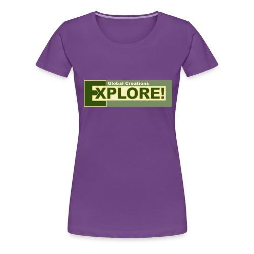 Explore Logo - Women's Premium T-Shirt