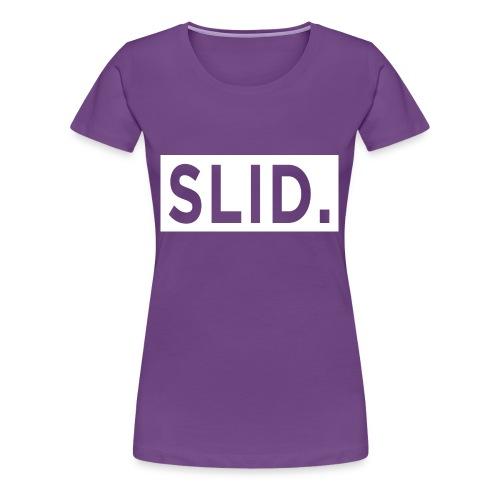 WHITE SLID. - Women's Premium T-Shirt