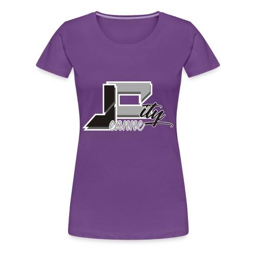 JeanneCityLogoOfficialBnW - Women's Premium T-Shirt