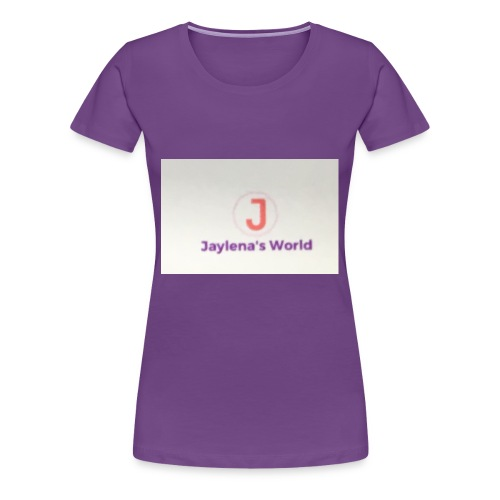 Jaylena's World logo - Women's Premium T-Shirt