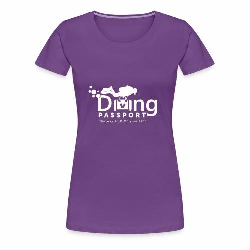 Diving Passport White Logo - Women's Premium T-Shirt