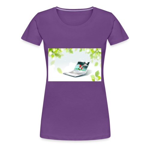 Digital World 63 - Women's Premium T-Shirt