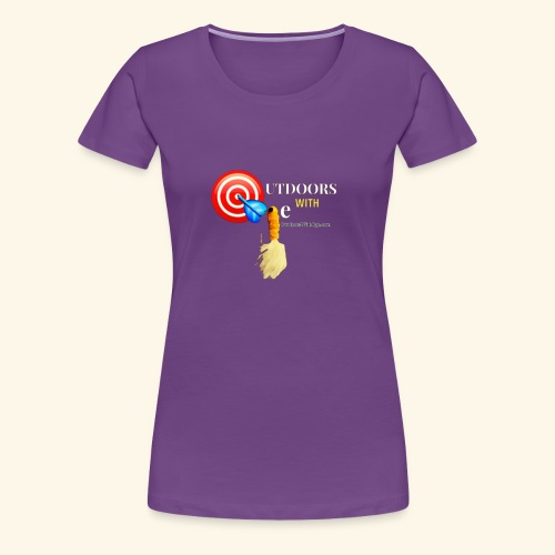 Outdoors with Oge Target and Jighead Logo - Women's Premium T-Shirt