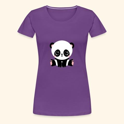 Cute Panda - Women's Premium T-Shirt