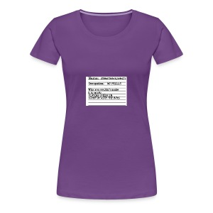 Jonathan Roshwitz Occupation - Women's Premium T-Shirt