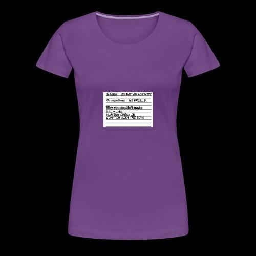 Jonathan Roshwitz Occupation - Women's Premium T-Shirt